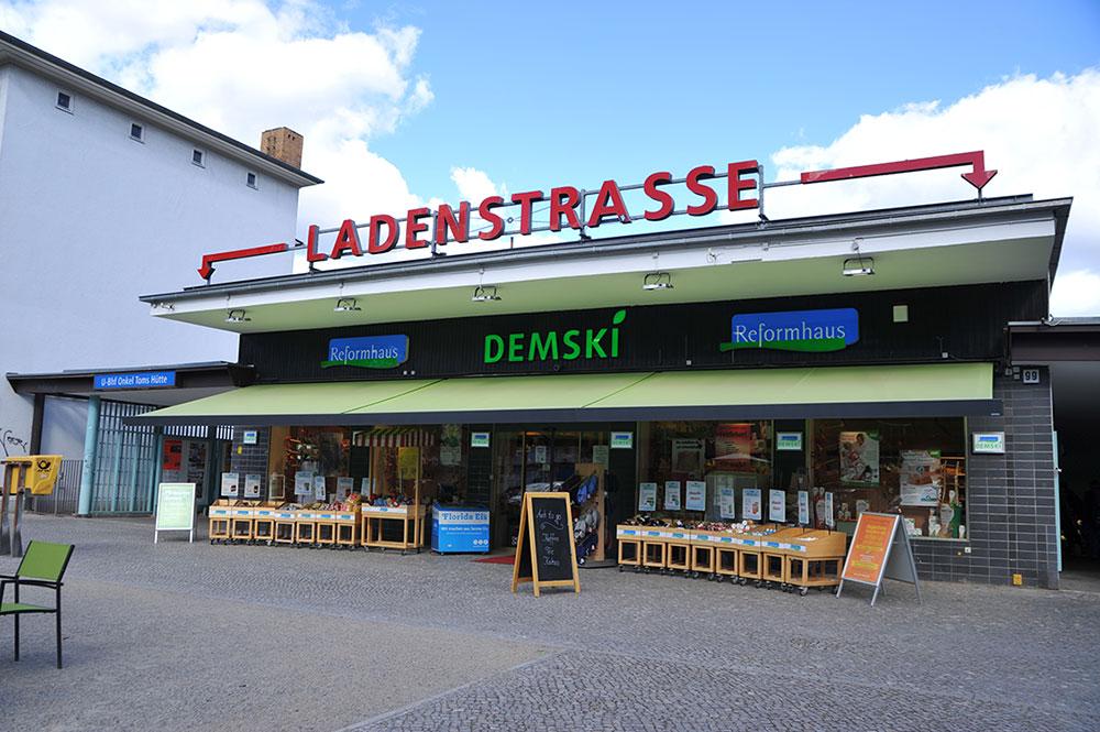 Reformhaus Demski in Onkel Toms Ladenstraße in Berlin-Zehlendorf
