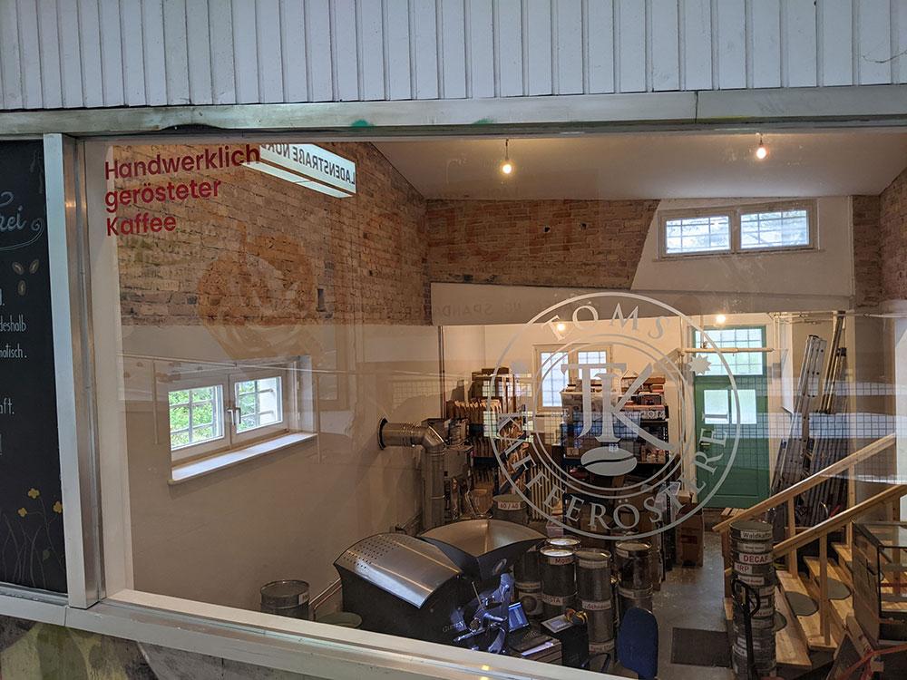 Einblick in Toms Kaffeerösterei in Berlin-Zehlendorf