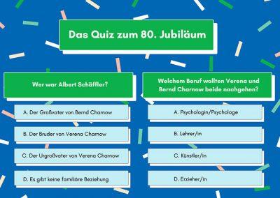 80 Jahre Elektro Schäffler // Das Quiz zum 80sten
