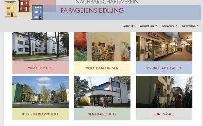 Schicke neue Website