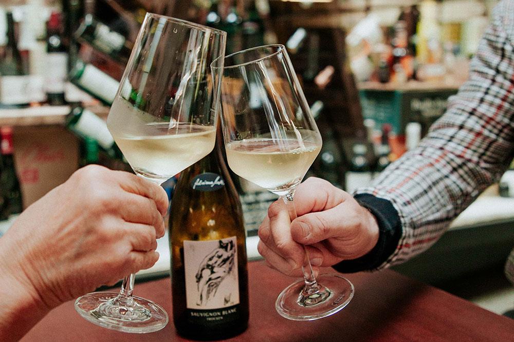 Weinprobe in der Kleine Weinrebe
